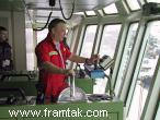 The captain on the bridge of M/V Thor Supplier