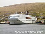 The Faroese ferry Norrøna in Runavík - the ferry sails to: Iceland, Norway, Shetland and Denmark